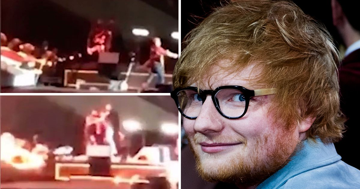 Ed Sheeran handles stage invader like a pro after fan storms the stage in Australia